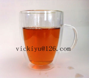 Double Wall Glass Tea Mug 350ml Glass Coffee Heat-Resisting Cup pictures & photos