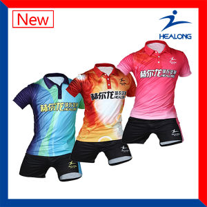Healong Unisex Sublimated Cheap Table Tennis Jersey pictures & photos