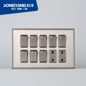 Stainless Steel Series 8gang&2socket Wall Socket pictures & photos