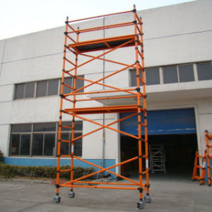 FRP Single-Wide Scaffolding Platform with Casters pictures & photos