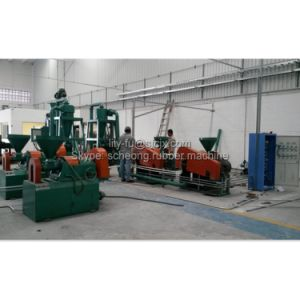 Semi Automatic Waste Tire Rubber Powder Making Machine pictures & photos