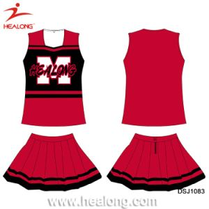 Healong ODM Dye Sublimated Team Cheerleading Jersey Dress pictures & photos