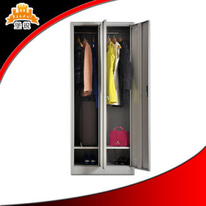 Modern Office Furniture 2-Door Steel Clothes Cabinet pictures & photos