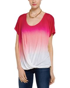 Ladies′ DIP Dye Ombre Short Sleeve T-Shirt Dtt9