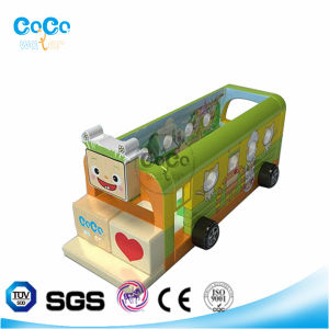 Cocowater Design Inflatable School Bus Theme Bouncer LG9012