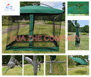 Hz-Um83 10X10ft Banana Umbrella Hanging Umbrella Garden Umbrella Parasol Outdoor Umbrella pictures & photos