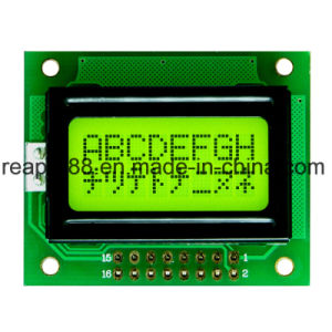 Stn Transflective Yellow-Green Positive 8X2 Character LCD Display pictures & photos