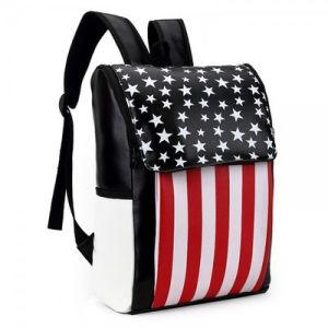 New Designer Girls American National Flag Backpacks for Ladies pictures & photos