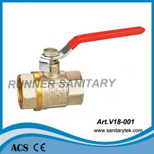 Brass Ball Valve with Steel Handle (V18-001) pictures & photos