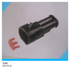 Manufacture of 8pin Electrical Waterproof Male Female Terminal Plastic Cable Wire Auto Connector pictures & photos