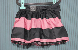 Girls Pleated Stripe Skirt with Adjustable Waistband (CDS-08)