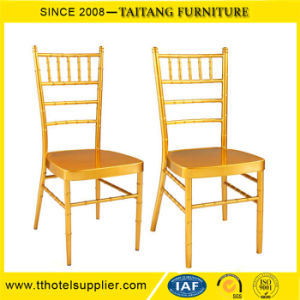 Durable Iron Stacking Banquet Chiavari Tiffany Chair Gold pictures & photos