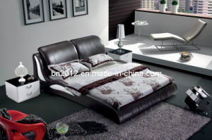 Modern Genuine Leather Bed (SBT-5845) pictures & photos