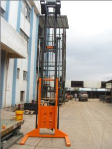 Hand Push, Lift by Electric, Semi-Electric Stacker pictures & photos