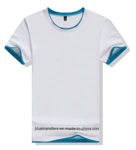 Promo Cotton T-Shirts in Contrast Color Collars&Cuffs pictures & photos
