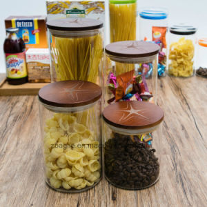 Factory Wholesale High Quality 4PCS Borosilicate Storage Food Glass Jar (100032 1-6) pictures & photos
