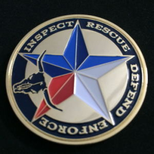 Brass Soft Enamel Challenge Coin with Diamond Edge pictures & photos