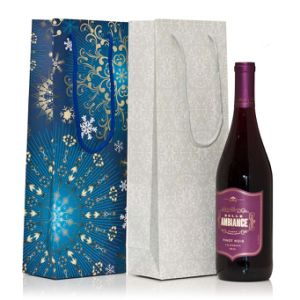 Wine Bottle Gift Bags Paper Wine Gift Bag with Customized Logo and Printing pictures & photos