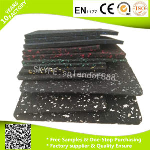 Colorful Soft Gym Flooring Mat EPDM Granules Rubber Tiles pictures & photos