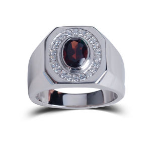 Fashion Wedding Birthday Commemoration Natural Stone J925 Silverewelry Ring pictures & photos