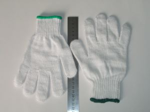 Industrial Safety Knitted White Cotton Work Gloves pictures & photos