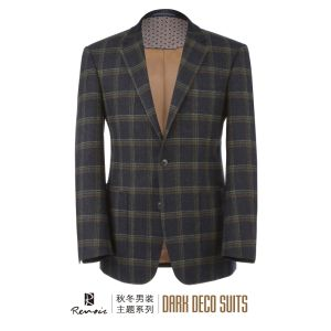 OEM 2017 Plaid Woolen Men′s Blazer pictures & photos