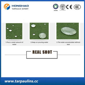 Heavy Duty Waterproof Green Canvas Fabric Tarpaulin for Truck Cover pictures & photos