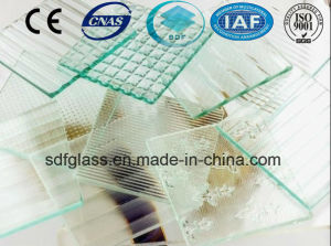 Green Flora Patterned Glass with Ce, ISO (3-8mm) pictures & photos
