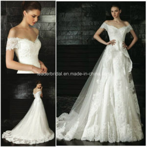 Lace off-Shoulder Court Train Ball Gowns Bridal Wedding Dresses Z5059 pictures & photos