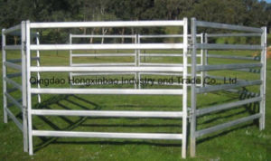 Oval Rail Galvanised Sheep Yard Panels pictures & photos
