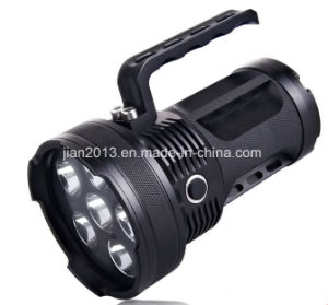 6X6w Rechargeable 395nm UV LED Hand Flashlight for Amber Hunting pictures & photos