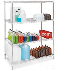 Adjustable Chrome Metal Wire Hospital Pharmacy Shelving pictures & photos