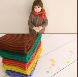 Custom Logo Promotional Winter Warm Wool Knitted Cotton Scarf pictures & photos