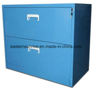 Good Quality Low Price 2 Drawer Metal Office Filing Cabinet pictures & photos