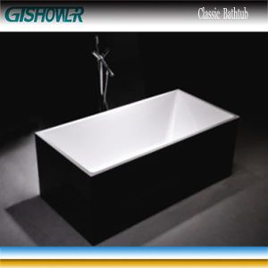 Black Bathroom Common Soaking Bathtub (KF-737B) pictures & photos