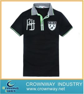 Black Color Printed Golf Polo Shirt for Men pictures & photos