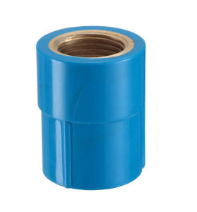 PVC-U Theraded Fittings Female Coupling with Brass (M63) pictures & photos