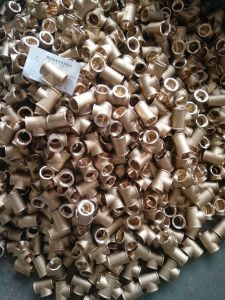 Chrome-Plated Nipple Mf of Brass Screw Fittings with Chrome-Plated pictures & photos