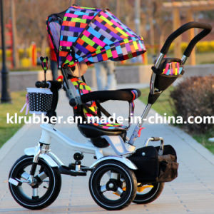 Children Trike Baby Tricycle with Colorful Canopy pictures & photos