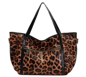 New Model Leopard Grain Genuine Leather Printing Leisure Custom Shoulder Lady′s Bag pictures & photos