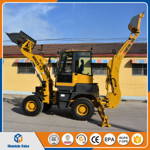 4WD Mini Backhoe Loader with Excavator Digger pictures & photos