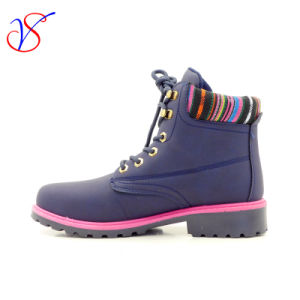 2016 New Style Injection Man Women Work Boots Shoes for Job with Quick Release (SVWK-1609-024 BLUE) pictures & photos