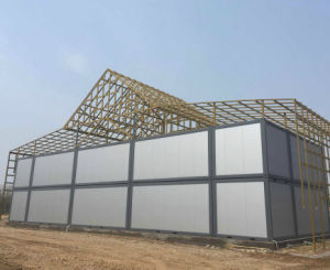 Long Life Span Polyurethane Sandwich Panel Container Accommodation pictures & photos
