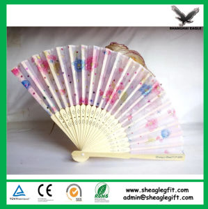 Custom Foldable Silk Wood Fans pictures & photos