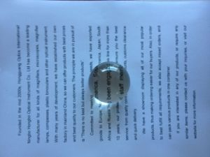 Acrylic Polishing Spherical Paper Weight Magnifier pictures & photos