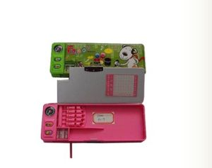 Plastic Pencil Box for Children with Cartoon Printing (5019) pictures & photos