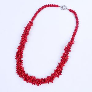 New Red Coral Beads Twine Necklace pictures & photos