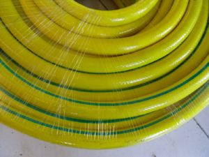 "PVC Yellow Flexible Spiral Reinforced Water Suction Pipe Hose 4"" pictures & photos"