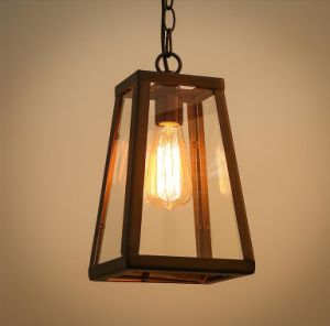 Metal Glass Pendant Lamp (WHG-005) pictures & photos