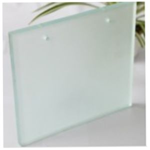 4mm 6mm 8mm Acid Etched Fosted Toughened Glass with Two Holes pictures & photos